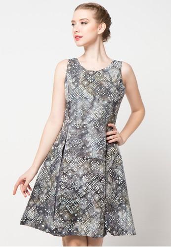 Bateeq grey Sleeveless Cotton Cap Dress BA656AA21LMGID_1