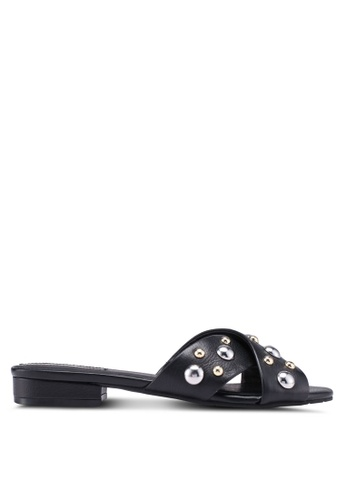 Kenneth Cole black Kcny Verna Stud Sandals 2D7BDSHE9C8668GS_1