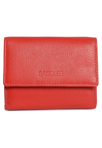 SADDLER red SADDLER Compact 10cm Double Flap Mini Purse Note Case (Red) SA661AC05IWCHK_1