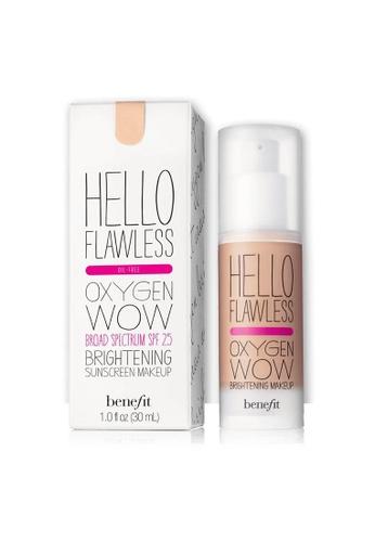 Benefit beige Hello Flawless! Oxygen Wow Liquid Foundation - Hazelnut BE433BE0FLRGSG_1