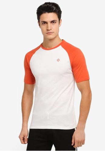 JAXON white and orange and multi Short Sleeves Raglan Logo Tee 6945BAA0BB2C45GS_1