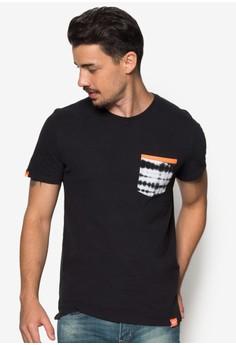 Orange Label Tie Dye Pcket T-Shirt