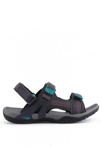 World Balance grey Jayla L Sports Sandals B637ESH3496716GS_1