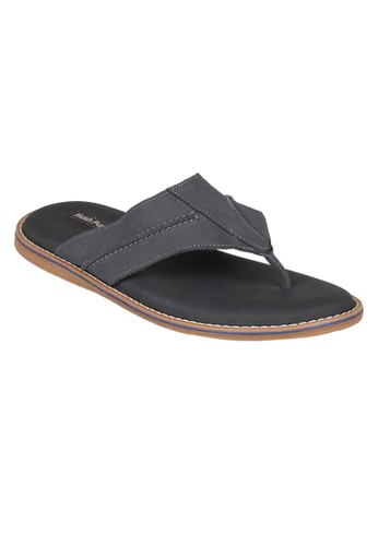 Hush Puppies Sandal Leather Pria Torqua Thong Navy