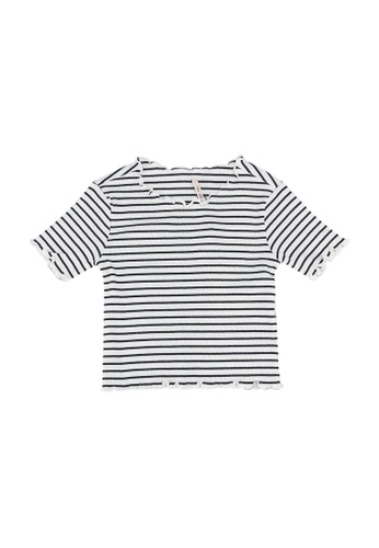 ONLY navy Gila Life Short Sleeve Rib Top 34D09KA11D277AGS_1