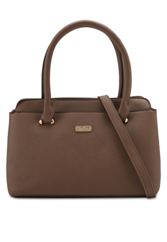 Unisa brown Saffiano Convertible Shoulder Bag UN821AC0SRVEMY_1