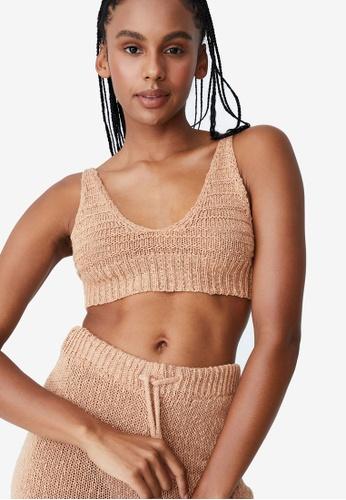 Cotton On Body brown Summer Lounge Beach Crop Top B7EE8AA08E9692GS_1