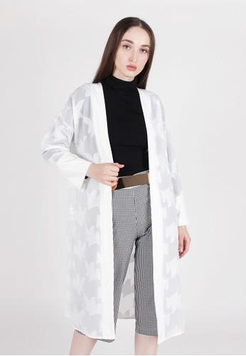 MAGNOLIA white Long Sleeves Kimono CC89FAAF093C07GS_1