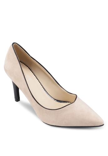 Macy 基本款撞色尖頭高跟鞋, 女鞋, esprit tw鞋