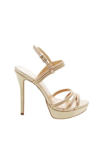 SCHUTZ gold Metalic Gold Napa Leather Platform Sandals - ELEANOR [PLATINA] C99BASH69B82B9GS_1