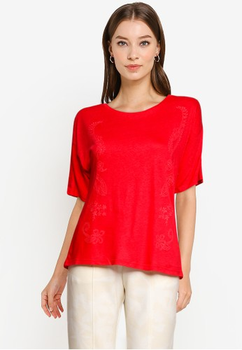 Desigual red Loose Fit T-Shirt BB713AAD0F0470GS_1