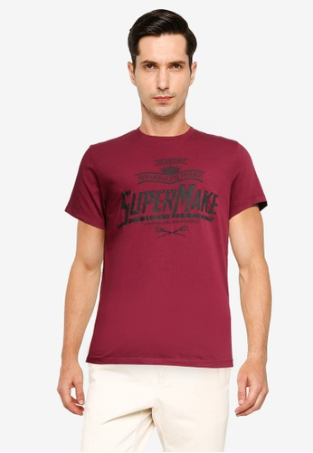 SUPERDRY red Dry Goods Tee 1C6B5AA6CBF6D8GS_1