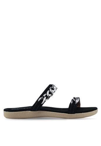 Mimosa 黑色 Metal Hardware Strap Sandals B487BSH2B2BC6FGS_1