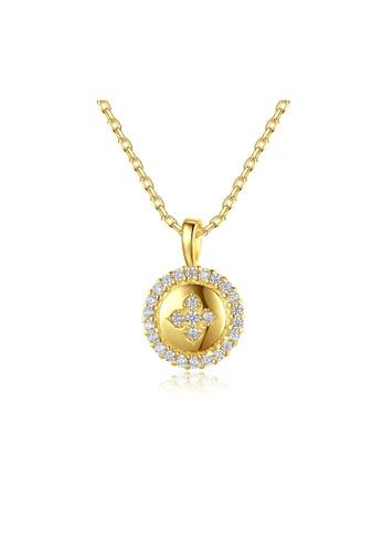 SUNRAIS gold Premium Silver S925 Gold Round Necklace 53416ACF5A8561GS_1