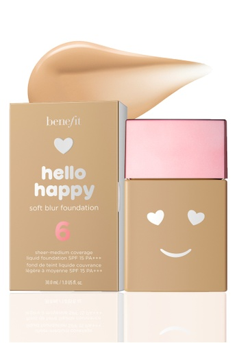 Benefit beige Benefit Hello Happy Soft Blur Foundation Shade 06 2BE39BEFA45306GS_1