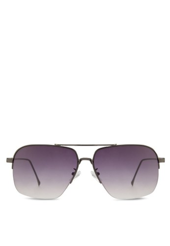 金屬矩esprit台灣門市形太陽眼鏡, 飾品配件, 長框