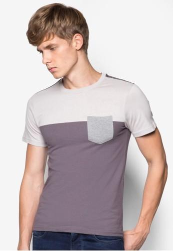 撞色口袋T 恤,esprit 澳門 服飾, T恤