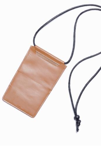 Life8 brown Casual adjustable drawstring card holder-06407-Brown LI248AC2VM63HK_1