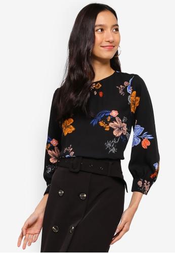 8bbf741741dcb Buy WAREHOUSE Sienna Floral Top Online on ZALORA Singapore