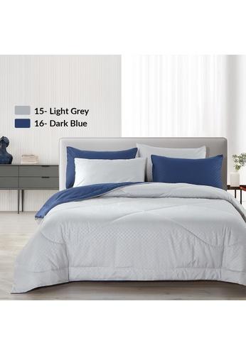 Epitex blue Epitex Homu HC8516 900TC Bedsheet - Fitted Sheet Set (Dark Blue) - (w/o quilt cover) B3BFDHL21E9A71GS_1