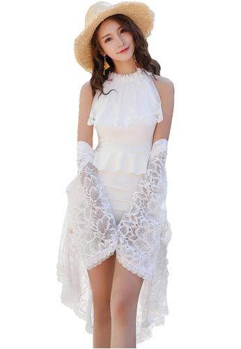 YG Fitness white (2pcs) Sexy Lace Swimsuit Set 725C0US52E48A3GS_1