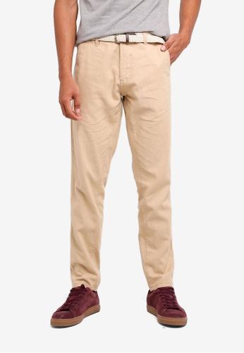 ESPRIT beige Denim Length Service Pants ED07CAAEDF7CBBGS_1