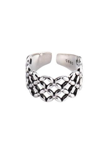 OrBeing 白色 Premium S925 Sliver Diamond Ring C907FAC41E5112GS_1