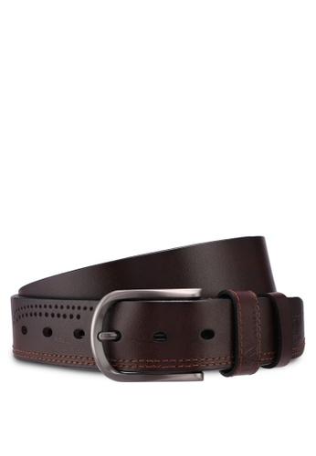 RAV Design brown 40MM Leather Belt 5BE6CACDF96C90GS_1