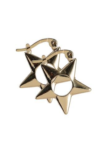 Rubi gold Noughties Hinge Hoop Earrings EA0D7AC74A8B99GS_1