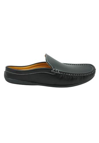 midzone black Faux Leather Slip On SC378SH48TJNMY_1