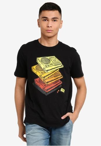 OVS 黑色 Men's Cassette T恤 455A6AAFE24875GS_1