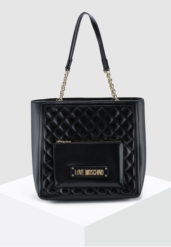 fc24be7788f5 Shop Love Moschino Quilted Tote Bag Online on ZALORA Philippines