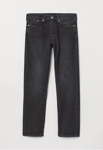 H&M black Straight Jeans 4FF36AAEA79AD5GS_1