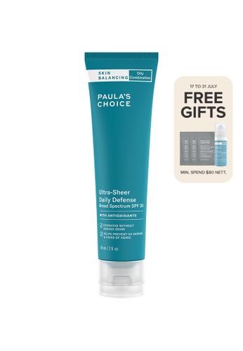Paula's Choice green Skin Balancing Ultra-Sheer Daily Defense SPF 30 2432FBE4140421GS_1
