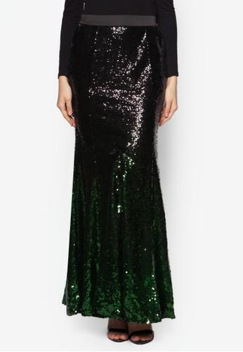 Graesprit旗艦店dient Sequin Skirt, 服飾, 長裙