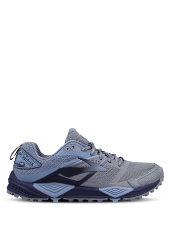 Brooks grey Cascadia 12 Shoes A6F51SH9A4D368GS_1