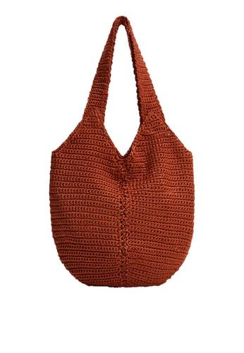 Mango orange Bucket Crochet Bag A77ADACDF49162GS_1
