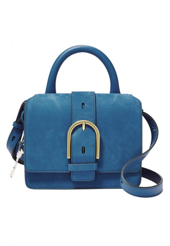 Fossil blue Wiley Top Handle Nubuck Leather AC460AC189ED02GS_1
