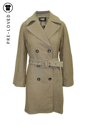Reformation brown Pre-Loved reformation Brown Trench Coat with Belt 00743AA30997DCGS_1
