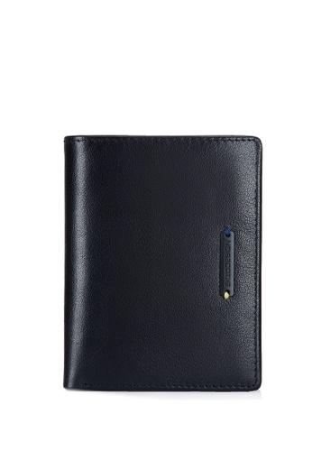 ENZODESIGN black Black Label Ultra Fine Grain Buffalo Leather Vertical Billfold Wallet 1BE6CACDEDA24AGS_1