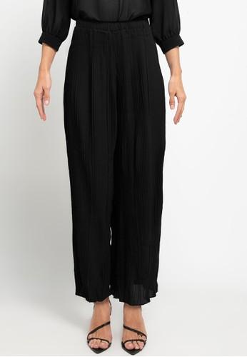 Icons black Pleated Pants 16266AA298C71EGS_1