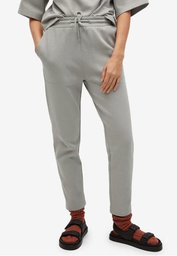 Mango grey Cotton Organic Jogging Trousers E7F74AA511F3ABGS_1