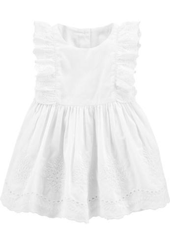 Oshkosh B'gosh white OSH KOSH Girl White Sleeveless Dress 340E3KA299C560GS_1