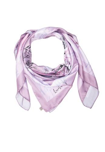 LUX@ME purple Luxatme Syattin Periwinkle Scarf 6FD9DAAACF4752GS_1