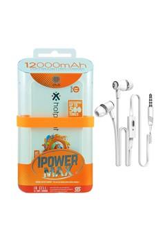 Uplus Powerbank 12000mAh with FREE Langsdom Earphone