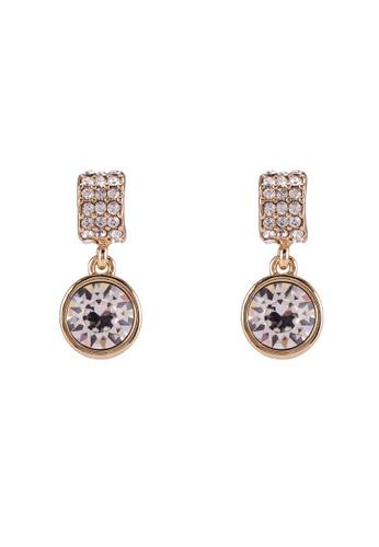 Mestige 金色 Golden Molly 耳環With Swarovski Crystals 0B6EBACE326DC0GS_1