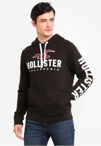 Hollister 黑色 LOGO刺繡帽T F1F7CAAEE87C43GS_1