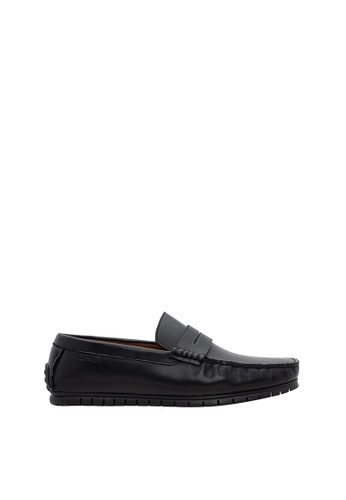 SEMBONIA black Men Leather Loafer 271E0SHE6B91F4GS_1