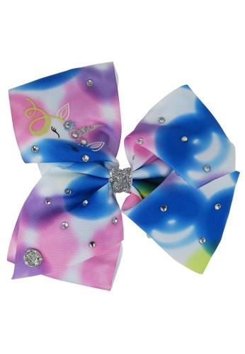 Jojo Siwa Jojo Siwa Bow With Clip (Rainbow Tie Unicorn) F1DADKC40DC820GS_1