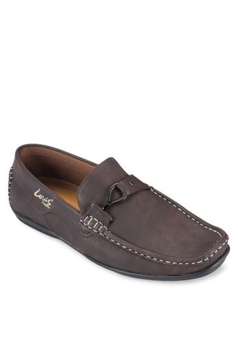扣環方頭休閒樂福鞋,zalora 台灣門市 鞋, 船型鞋